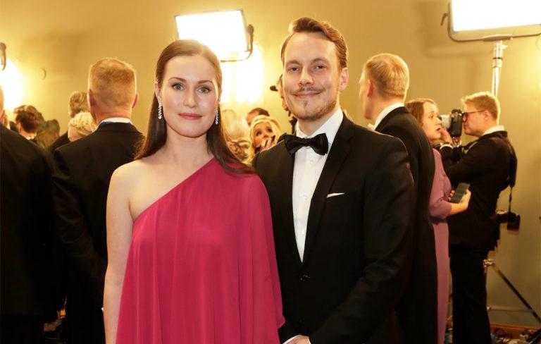 – Minusti tulisi päämäärätietoinen, asioihin perehtyvä ja harkitseva pääministeri, Sanna Marin sanoo. Vieressä puoliso Markus Räikkönen.