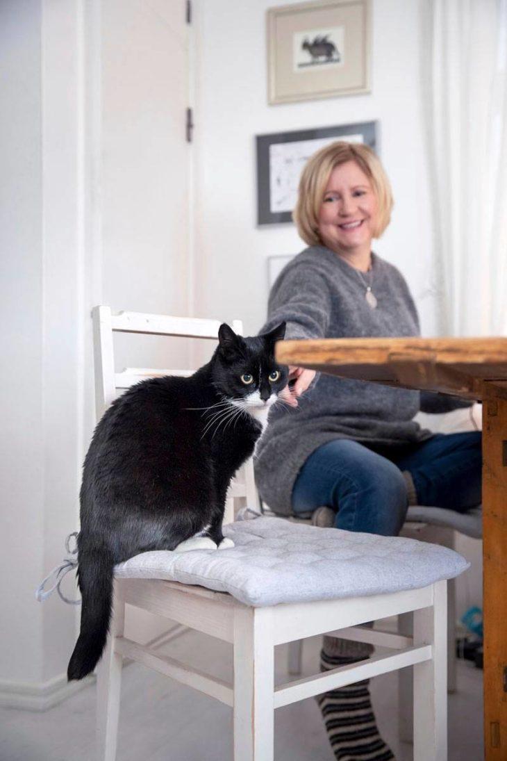 Kissa on etätöitä tekevälle toimittajalle erinomainen työkaveri. Ei tarvita kuulosuojaimia.