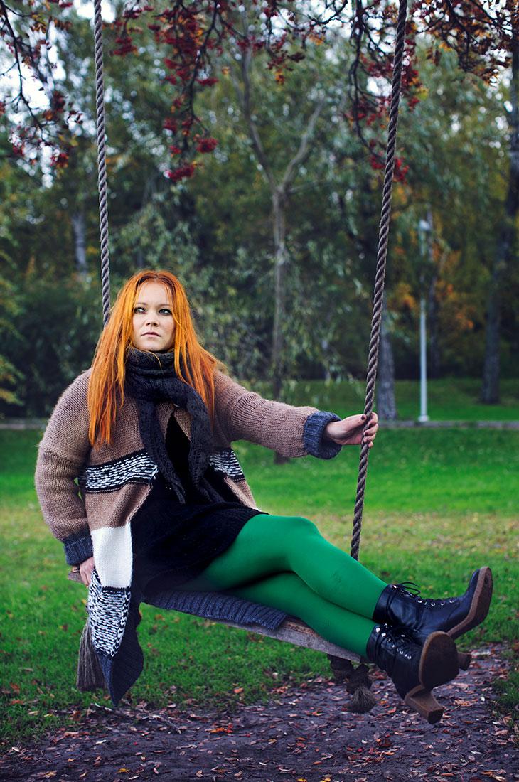 Anna Puu ja punaiset hiukset.