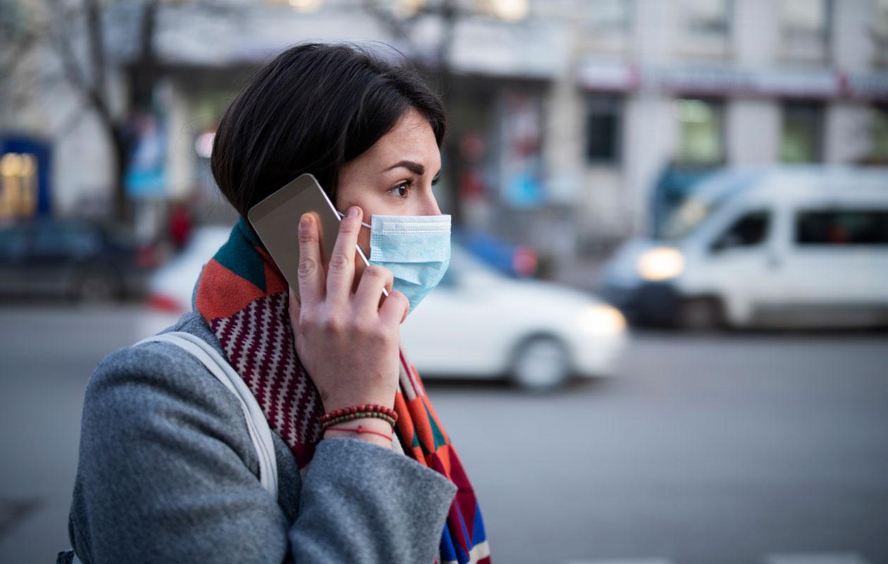 Hengityssuojain ei suojaa koronalta.
