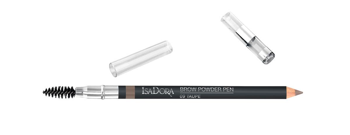 Isadora Brow Powder Pen -kulmakynä, sävy 09 Taupe, 13 e.