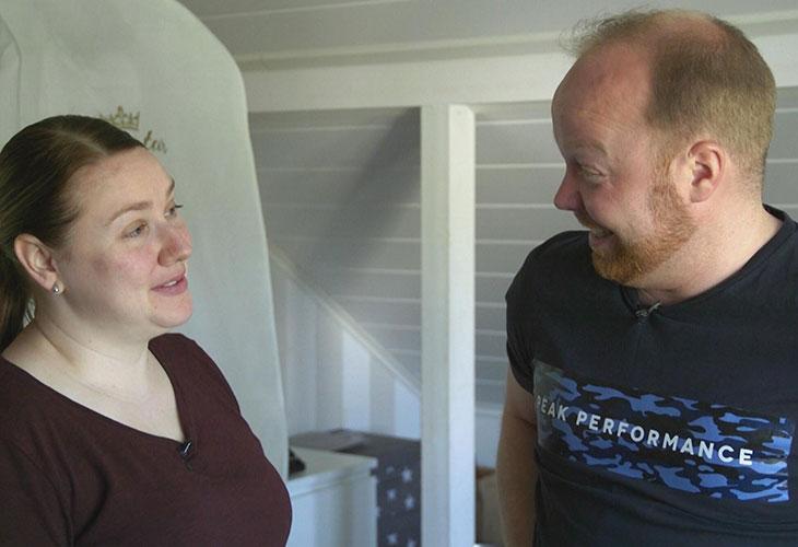 Ensitreffit alttarilla -ohjelmassa tavanneet Anniina ja Ville.