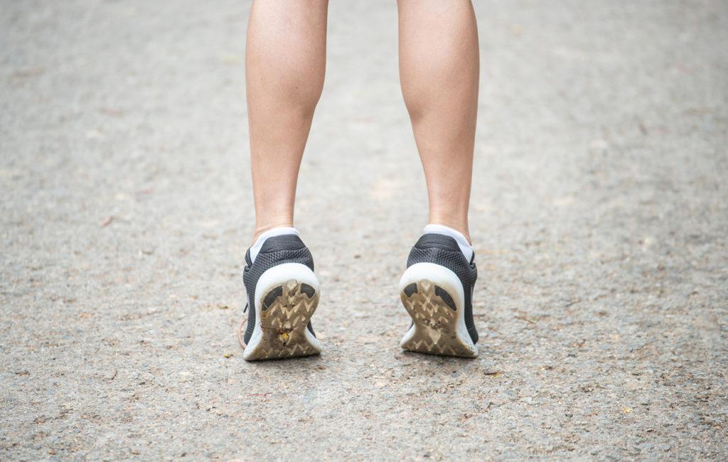 Jalan core joutuu töihin esimerkiksi juoksulenkillä.