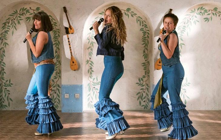 Kuva Mamma Mia! -musikaalielokuvasta.