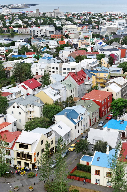 Reykjavik: Hallgrímskirkja-nimisen kirkon tornista aukeaa hieno kaupunkinäköala.