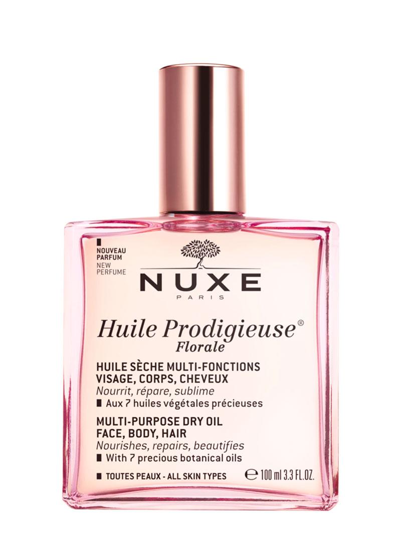 4.Nuxe Huile Prodigieuse Florale on kukkaisversio Nuxen klassikosta, Huile Prodigieuse -kuivaöljystä. Se tuoksuu niin vahvasti (ei liikaa) kukille, että korvaa jopa parfyymin. Öljy imeytyy välittömästi ja sopii niin kasvoille, vartalolle kuin hiuksillekin, 50ml 24e.