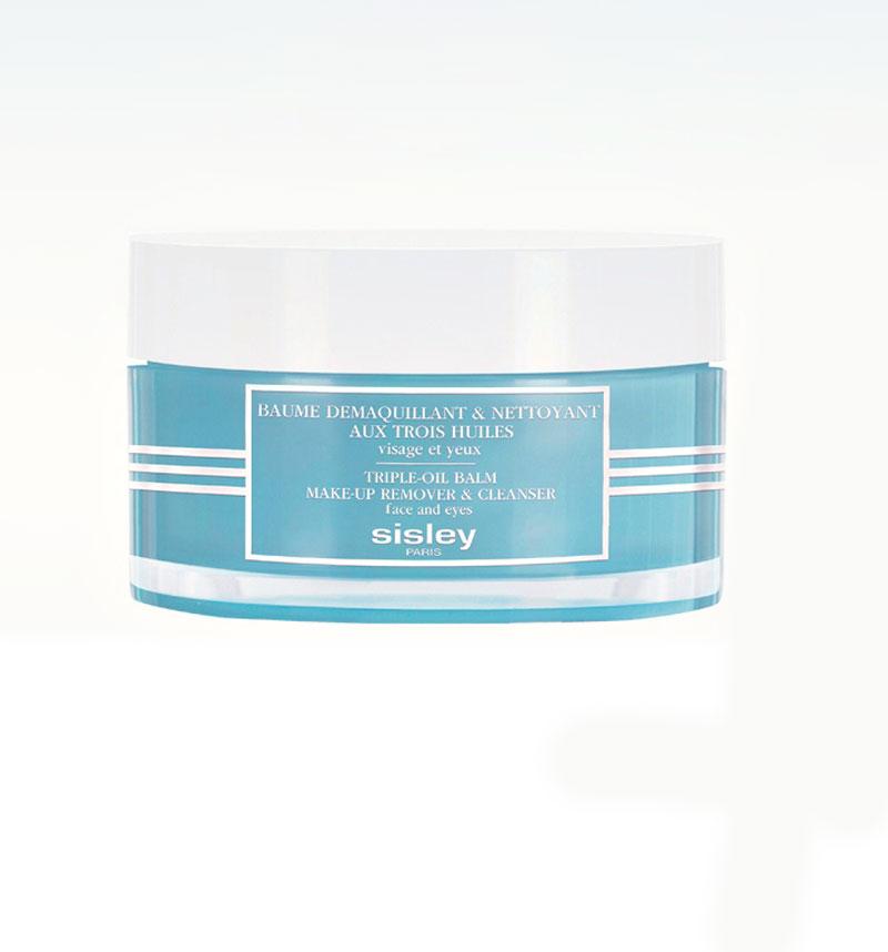 5.Ylellinen Sisley Triple-Oil Balm Make-Up Remover & Cleanser -puhdistusbalmi poistaa yhdellä hieraisulla tiukimmankin meikin ja saa ihon tuntumaan silkkisen sileältä, 125g 110e.
