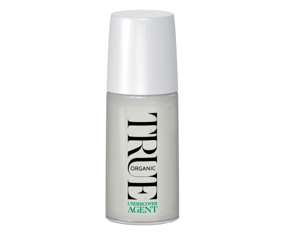 True Organic of Sweden Undercover Agent roll-on-deodorantti on alkoholiton, ja sen ainesosat ovat 99 % luonnosta, 50 ml 17 e.