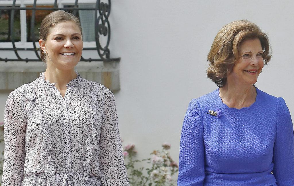 Ruotsin kruununprinsessa Victoria ja kuningatar Silvia