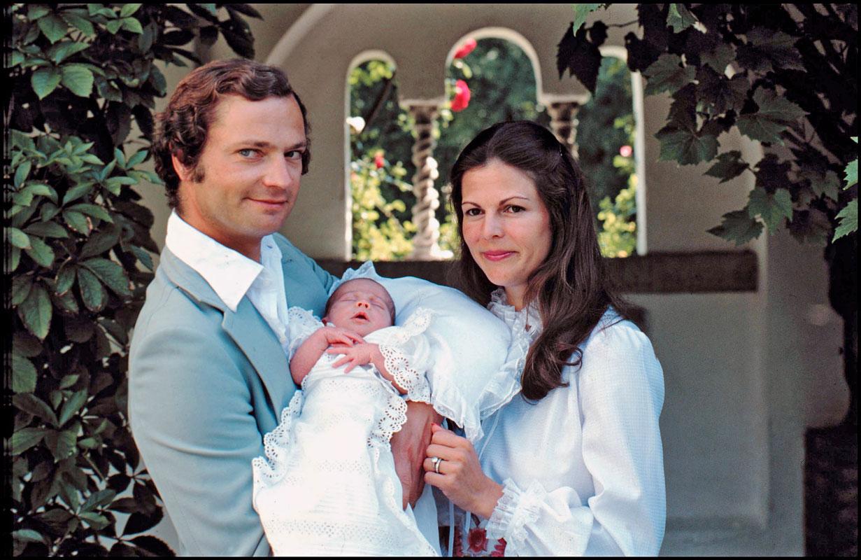 Kaarle XVI Kustaa, prinsessa Victoria ja Silvia
