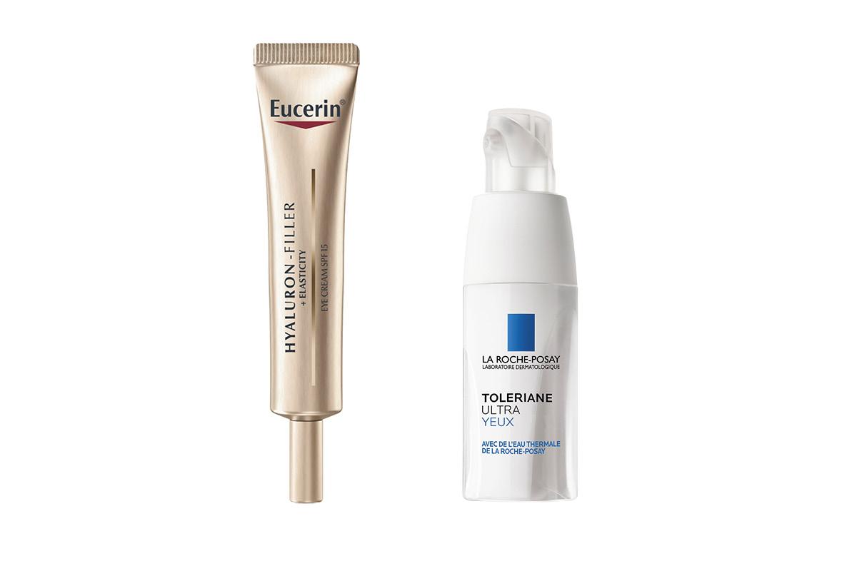 11.Hajusteeton Eucerin Hyaluron Filler+Elasticity Eye Cream SPF 15 -voide kosteuttaa, täyteläistää ja parantaa ohuen ja herkän silmänympärysihon kimmoisuutta, 15ml 35e.12.Rauhoittava ja kosteuttava La Roche-Posay Toleriane Ultra Eye -silmänympärysvoide lievittää ihon kiristävää tunnetta ja punoitusta. Hajusteeton, 20ml 19e.