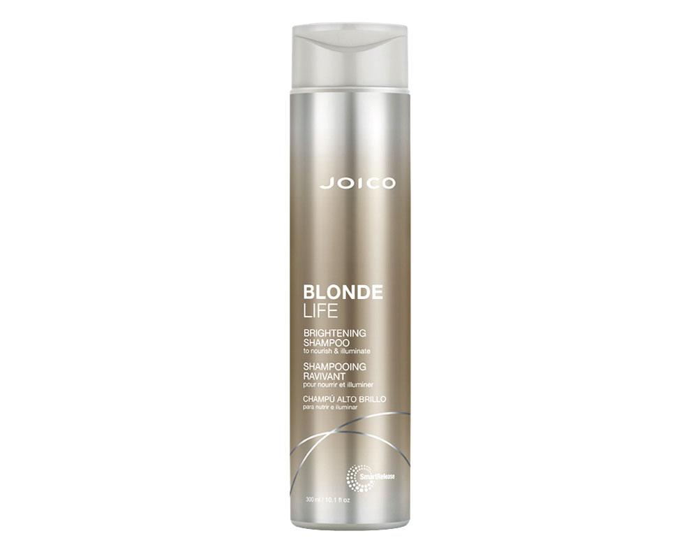 Joico Blonde Life Brightening -sampoo kirkastaa vaaleiden hiusten väriä sitruunauutteen avulla, 300ml 24e.