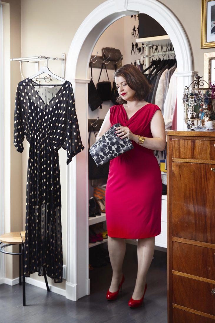 Max Maran mekon Eva on ostanut PréPorté-liikkeestä, joka myy laadukkaita second hand -vaatteita. – Aion pukea tämän mekon päälleni 40-vuotissyntymäpäivilleni.