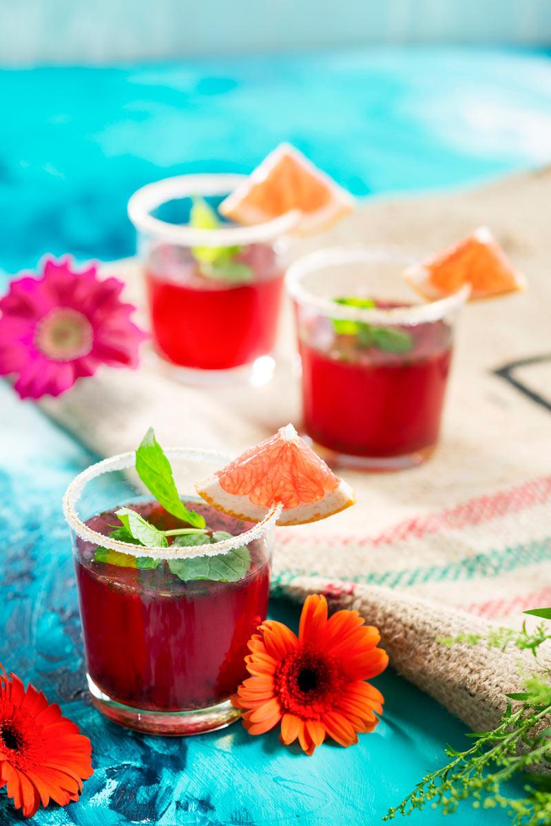 vaaleanpunainen Senjorita -drinkki