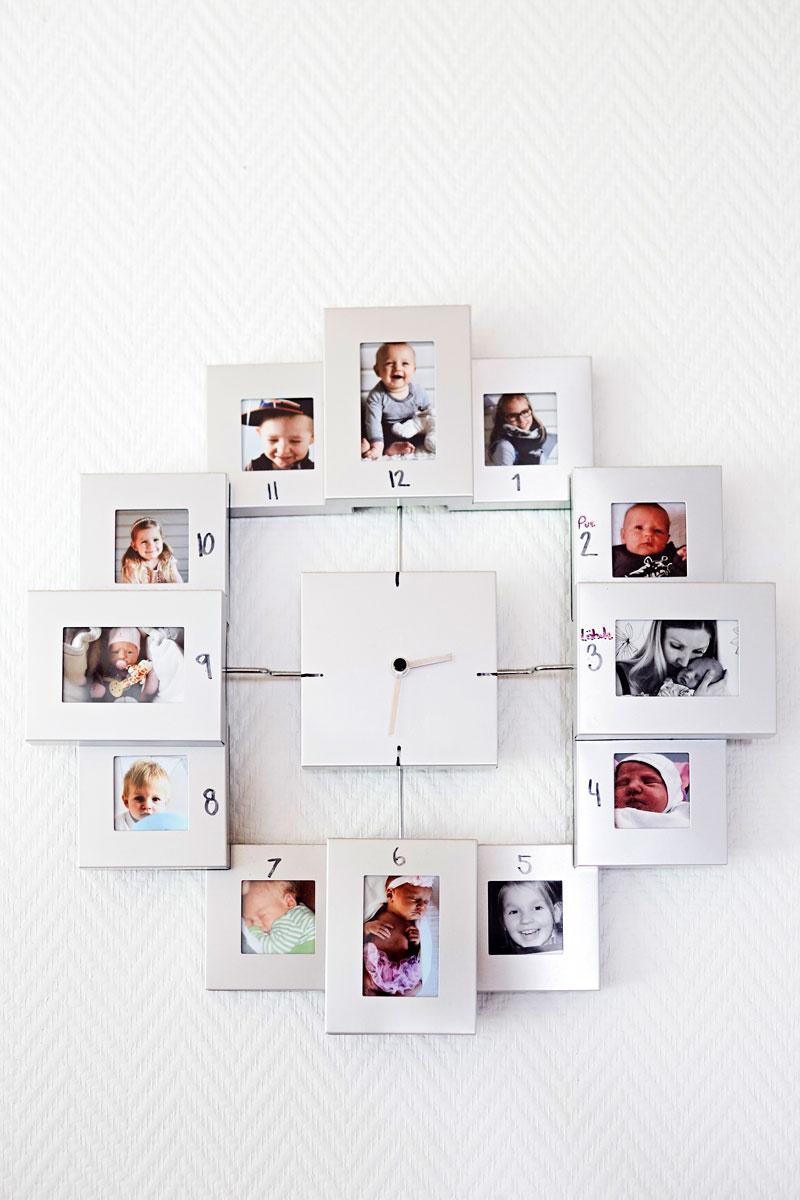 Jokainen lapsi löytää kuvansa keittiön kellosta.