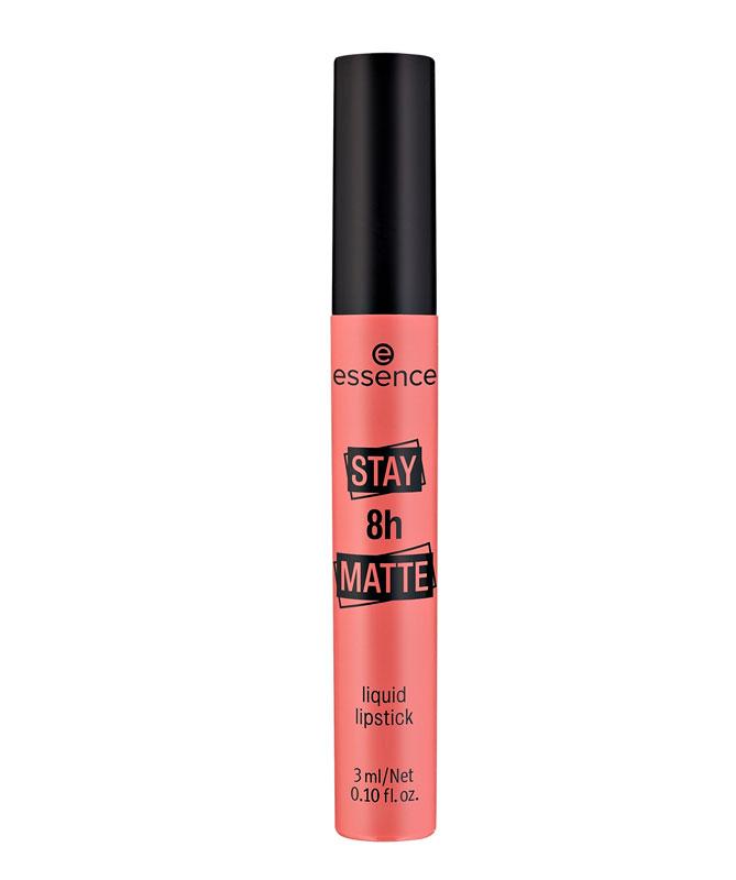 Essence Stay 8 h Matte Liquid Lipstick -nestemäinen kestävä huulipuna on edullinen laatutuote, 4 e.