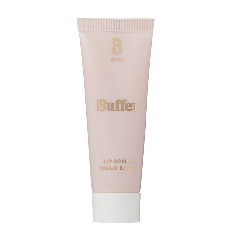 Bybi Beauty Buffer Lip Scrub -huulikuorinta kuorii ja kosteuttaa huulet sokerin, mansikkauutteen ja manteliöljyn avulla, 10 ml 14 e.