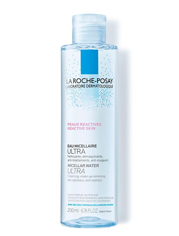 Apteekkituote La Roche-Posay Effaclar Eau Micellaire Ultra -misellivesi sopii etenkin rasvoittuvalle ja epäpuhtauksiin taipuvaiselle iholle, 200ml 16e.