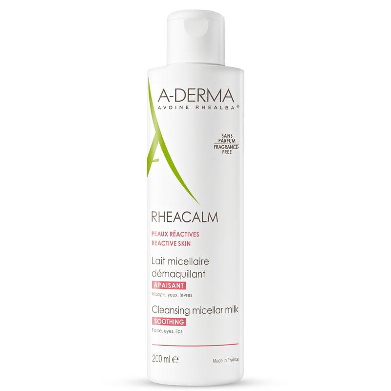 A-derma-apteekkisarjan trendikästä kauraa sisältävä Rheacalm Micellar Milk -puhdistusmaito sopii kuivalle ja herkälle iholle, 200ml 16,50e.