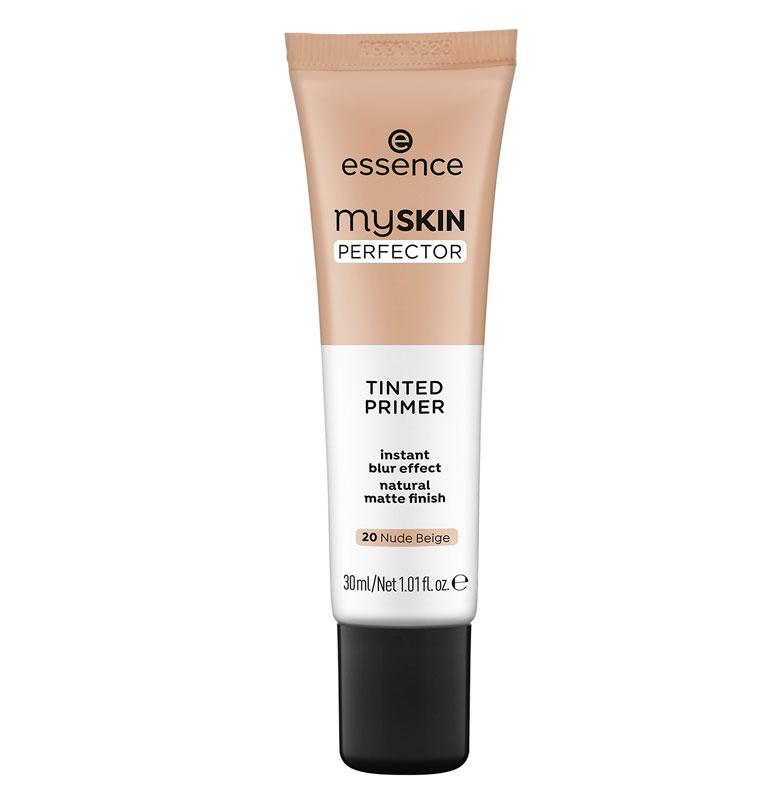 Essence My Skin Perfector Tinted Primer -pohjustusvoide tasoittaa ja silottaa ihoa. Levitä kasvojen keskiosaan tai ongelma-alueille, 30ml 5e.