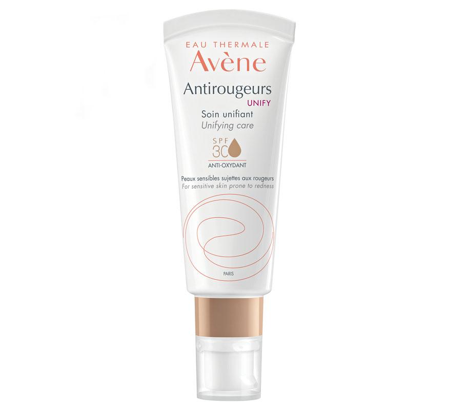 Avène Antirougeurs Unify Unifying Care SPF 30 -sävyttävä päivävoide peittää couperosaihon punoitusta ja rauhoittaa ihoa, 40ml 28e.