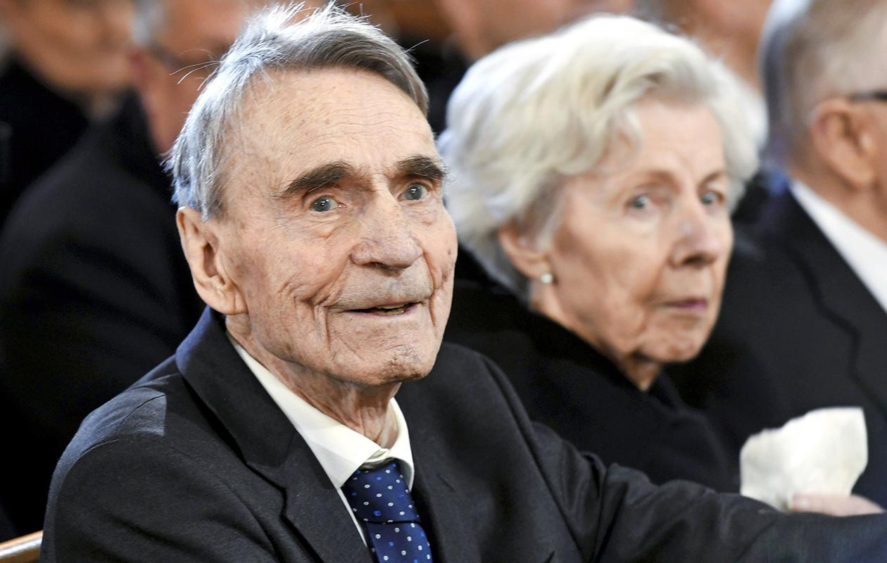 Tellervo Koivisto ja Mauno Koivisto vuonna 2016.
