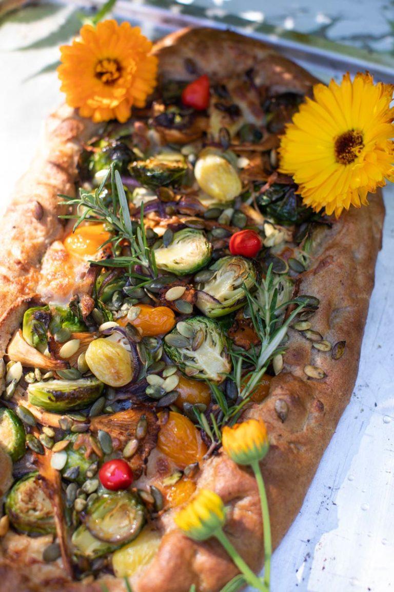 ruusukaali flat bread