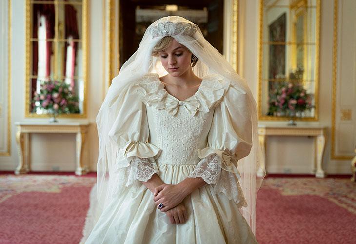 Prinsessa Diana nähdään uudella The Crown -kaudella. Kuvassa näyttelijä Emma Corrin Dianan roolissa.