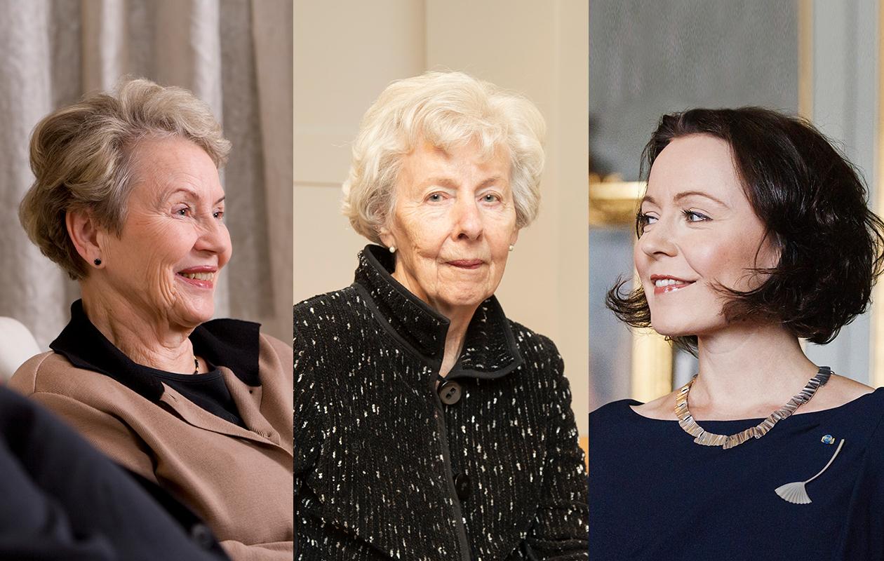 Eeva Ahtisaari, Tellervo Koivisto ja Jenni Haukio