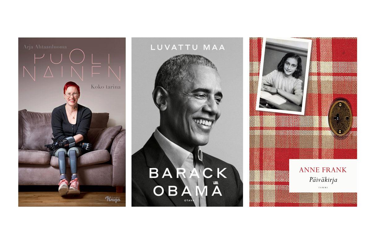 Kirjavinkit 2020 – kuvassa kirjojen kansia