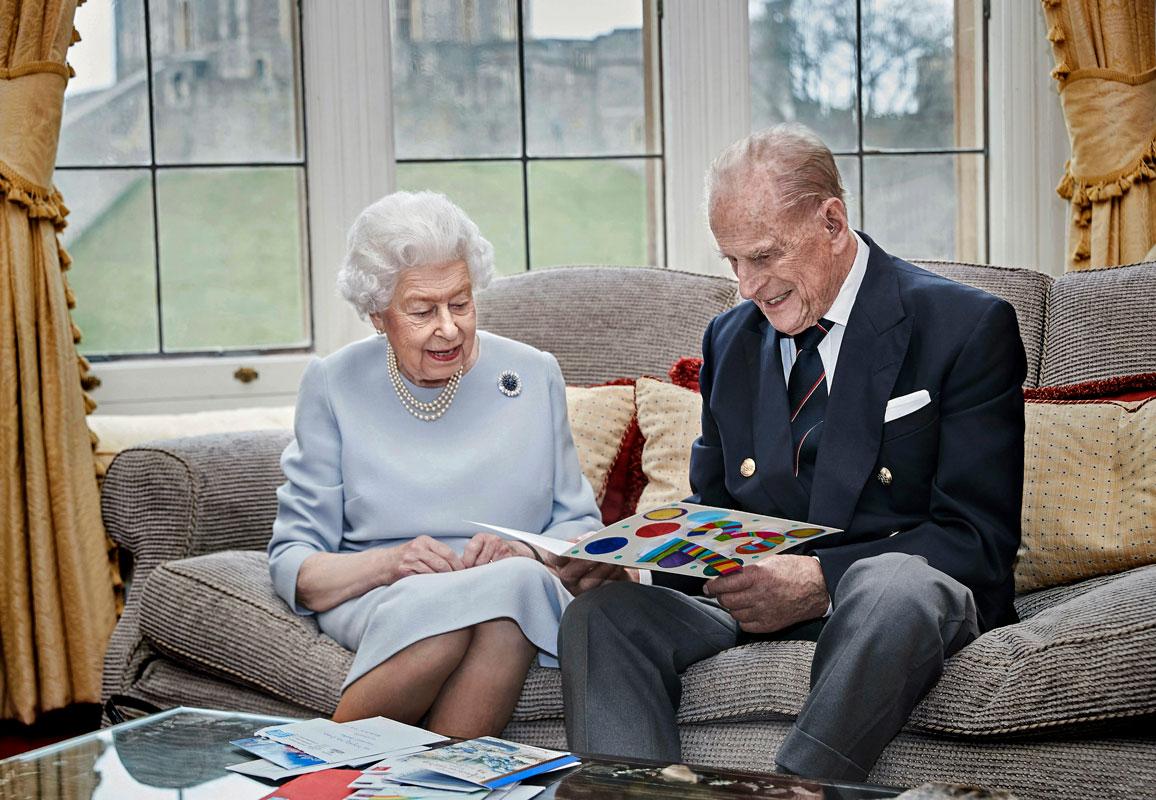 Kuningatar Elisabet ja prinssi Philip hääpäivänään