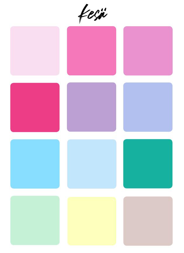 Värianalyysi kesä värit