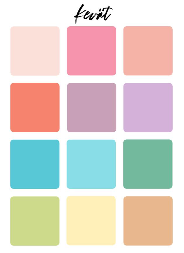 värianalyysi kevät värit