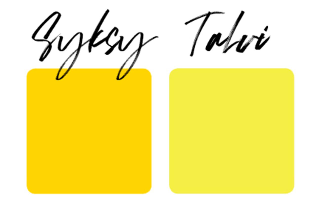 lämmin ja kylmä keltainen