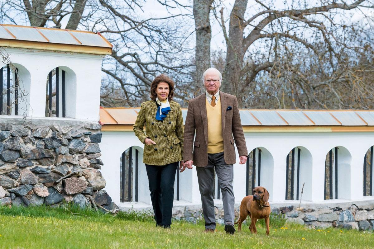 Ruotsin kuningatar Silvia ja kuningas Kaarle Kustaa