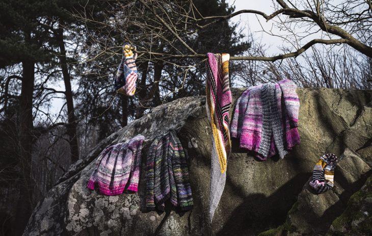 Neulominen: Kitti Suorannan neulomat puserot ja asusteet on tehty itsevärjätyistä langoista.