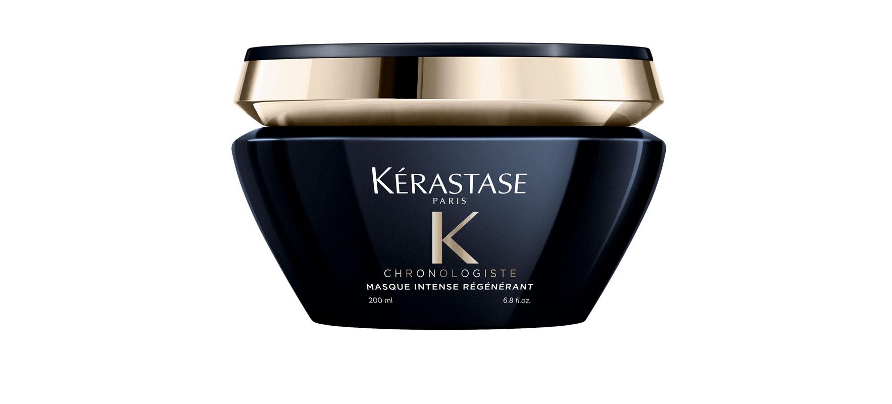 Kérastase Chronologist -hiusnaamio hoitaa sekä hiuspohjaa että hiuksia, sisältää kosteuttavaa hyaluronihappoa, E-vitamiinia ja vaurioita korjaavaa abyssineä, 200 ml 58,50 e.