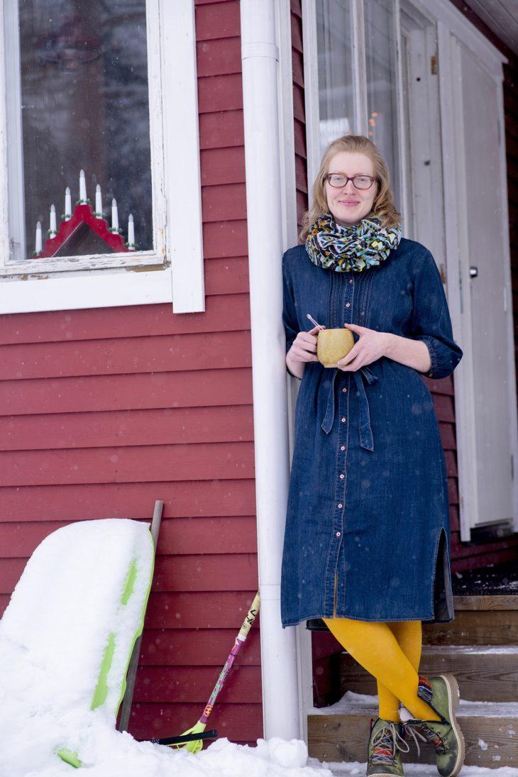 Viivi Moll oli Facebook-ryhmästä ainut, joka lähti kävelytreffeille.