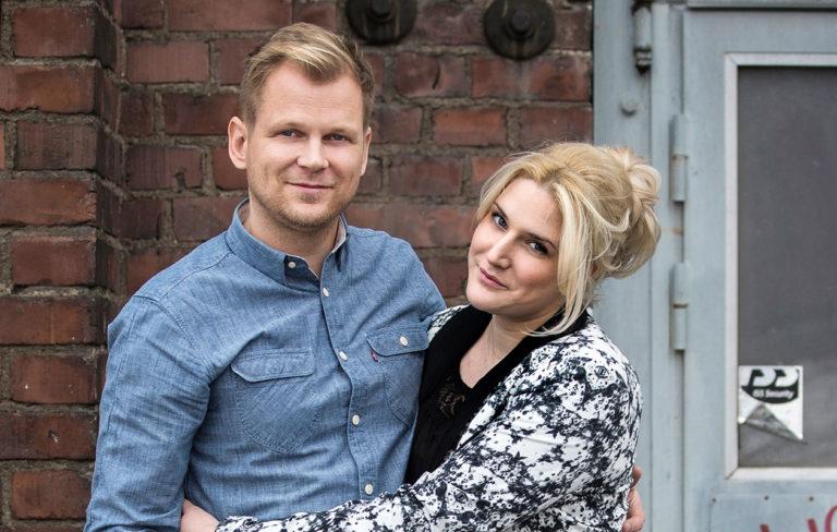 Kuvassa Antti Luusuaniemi ja Lili Zoe Ermezei.