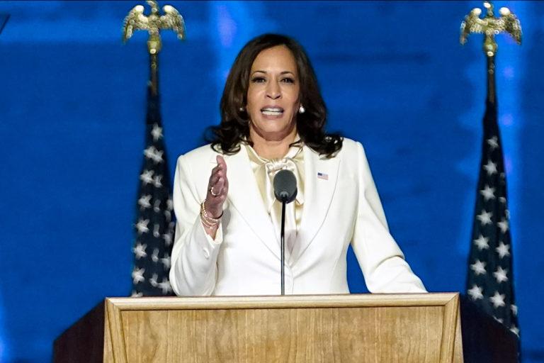 – Saatan olla ensimmäinen nainen tässä virassa, mutta en tule olemaan viimeinen, Kamala Harris julisti voitonpuheessaan.