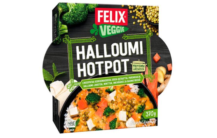 Valmisruoat: Felix Halloumi Hotpot, hintaluokka 4 euroa.