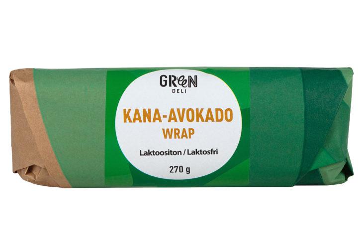 Valmisruoat: Greendeli Wrap kana-avokado, hintaluokka 4 euroa.
