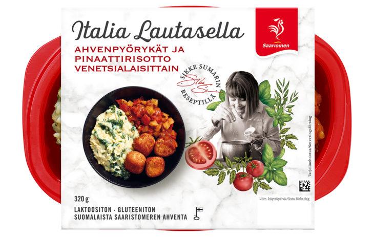 Valmisruoat: Saarioisen Italia Lautasella, hintaluokka 5 euroa.