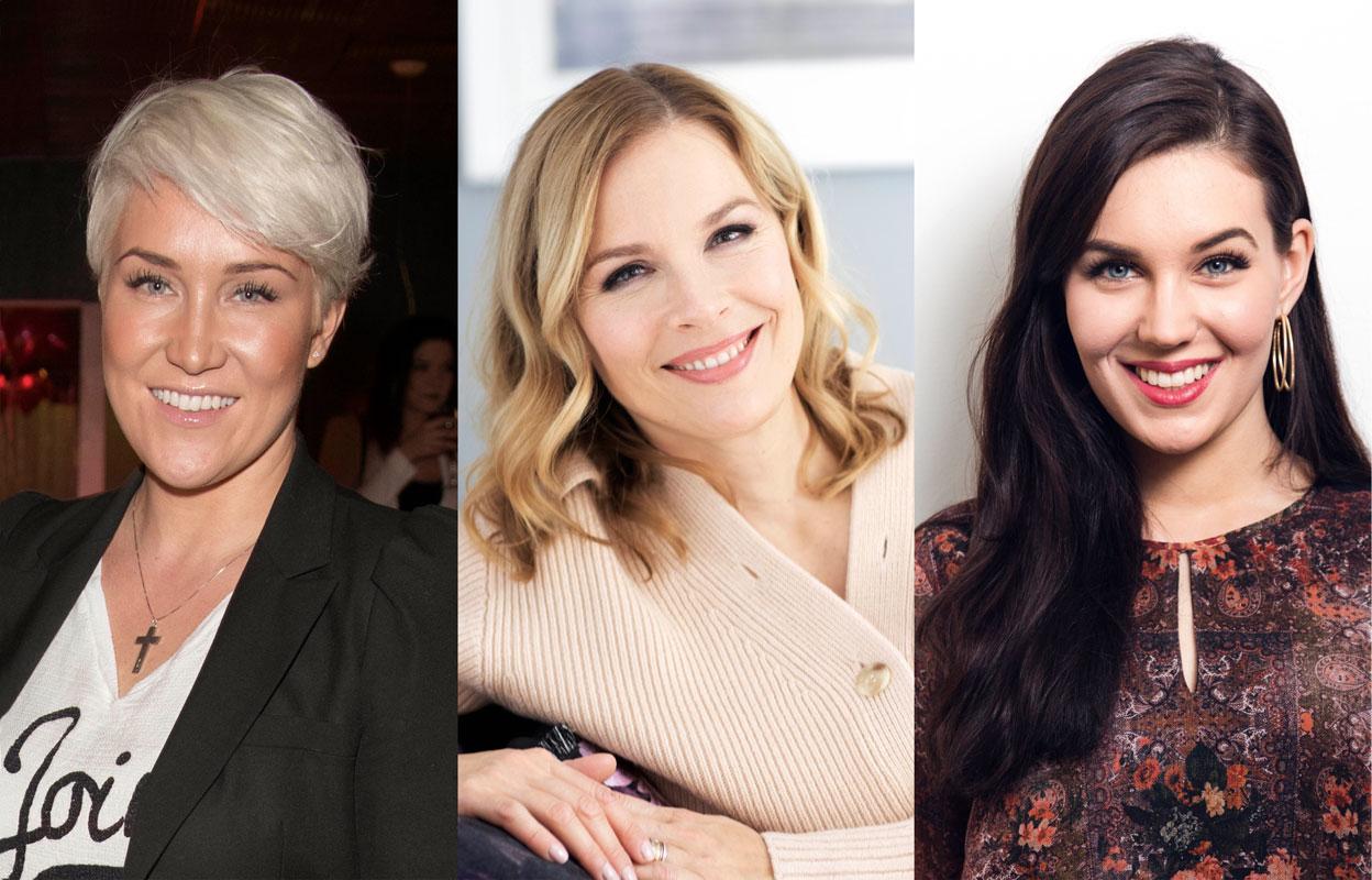 Mira Kasslin, Piia Pasanen ja Michaela Söderholm saivat Annan muuttumisleikissä uuden, sähäkämmän hiustyylin vain kampausta vaihtamalla.