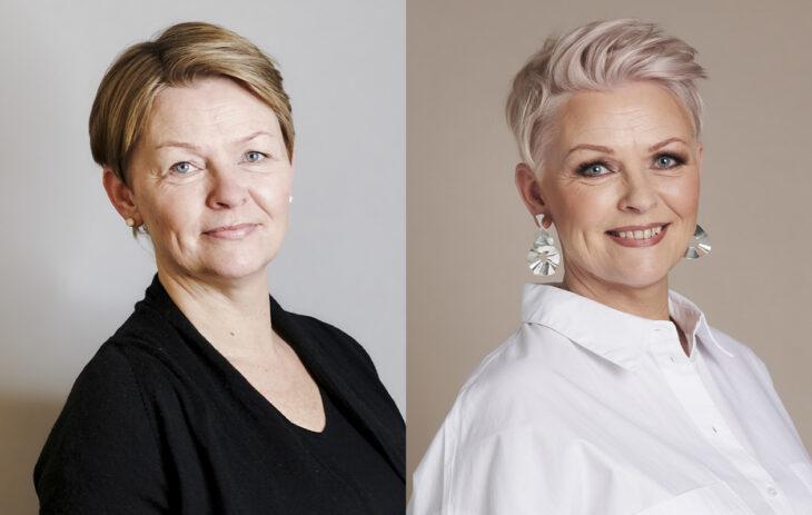 Annan Muuttujaleikkiin osallistunut Annette Romunen ennen ja jälkeen -kuvissa.