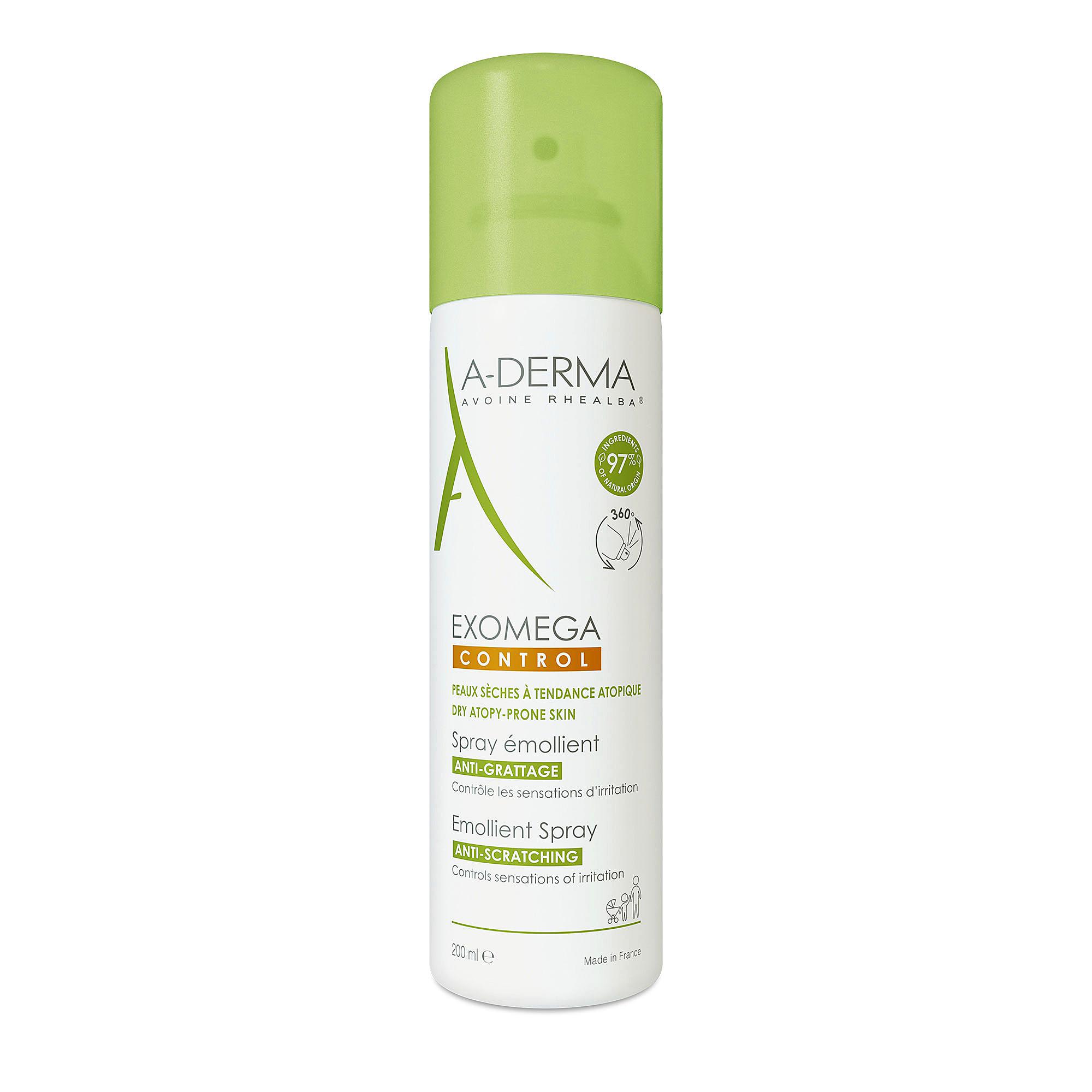 A-Derma Exomega Control Emollient Spray on iholle suihkutettava, nestemäinen voide, joka rauhoittaa kutisevaa ihoa, 200 ml 21 e.