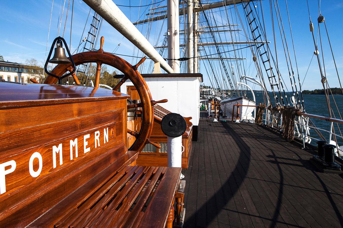 Museolaiva Pommern. Ahvenamaa on kuin suuri museosaari.