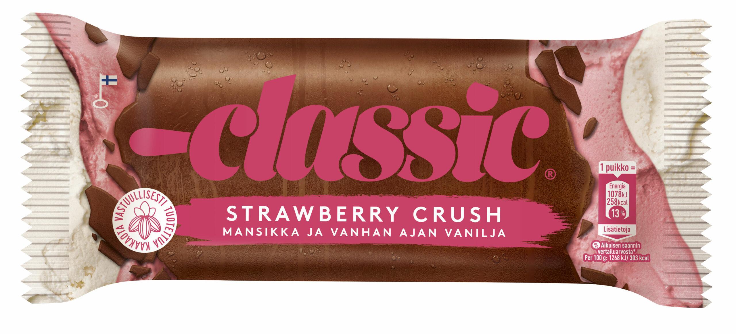 Classis Strawberry Crush -jäätelön kääre