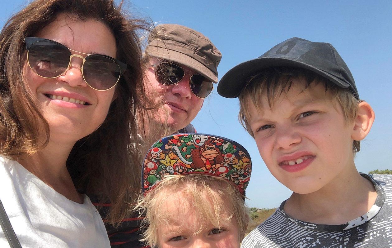 Laura Rissanen, Panu Laturi ja lapset Valtteri ja Viljami.