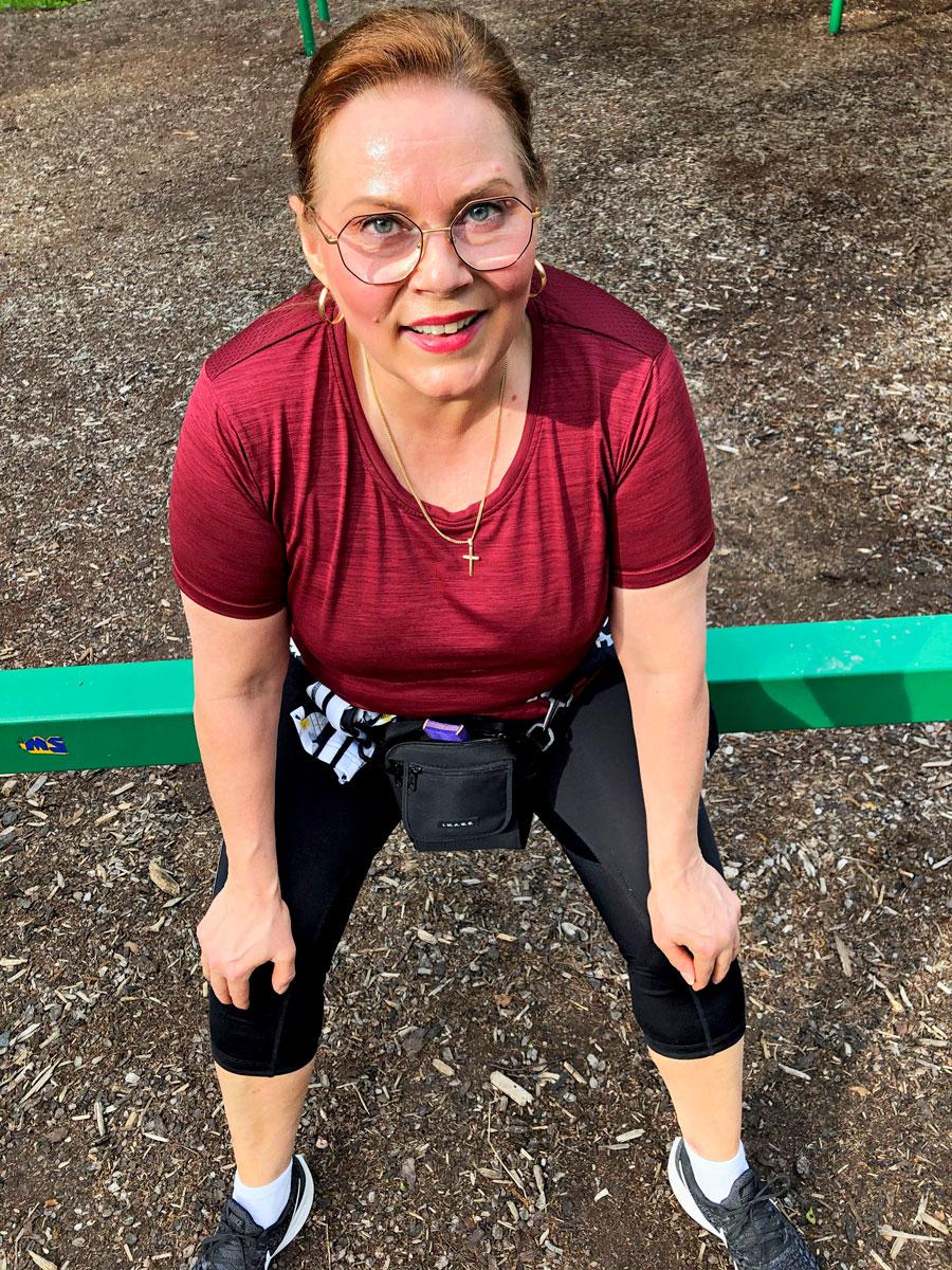 Liikunnan ilo on palannut Nina Mikkosen elämään vaikean talven jälkeen.